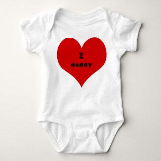 habillement de costume de bébé de papa du coeur i body