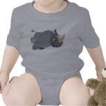Habillement de remplissage de bébé de rhinocéros d t-shirt