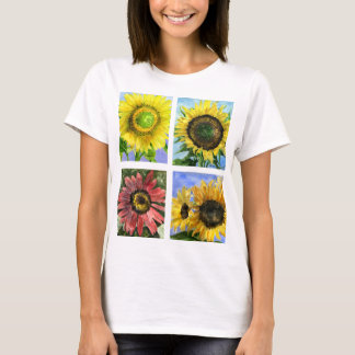 Habillement de T-shirt de cinq tournesols