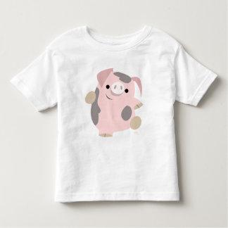 Habillement d'enfants de porc de bande dessinée de t-shirt pour les tous petits