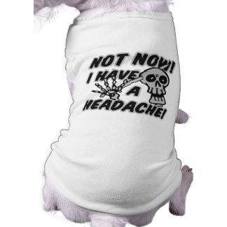 Habillement drôle d'animal familier de crâne de ma t-shirt pour chien