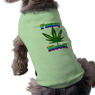 Habillement drôle d'animal familier de mauvaise he t-shirt pour chien