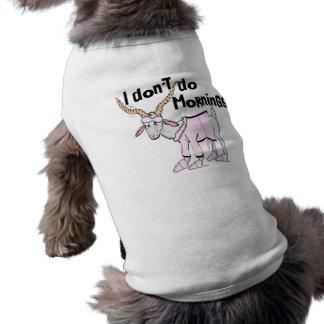 Habillement drôle de chèvre t-shirt pour chien