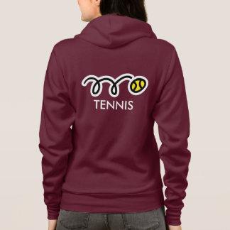 Habillement fait sur commande d'équipe de tennis veste à capuche