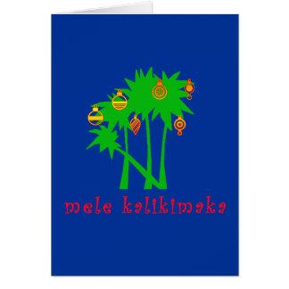 Habillement hawaïen de Noël de Mele Kalikimaka Carte De Vœux