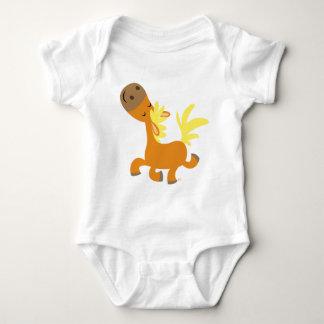 Habillement heureux de bébé de poney de bande t-shirts