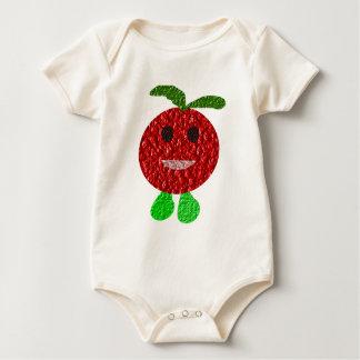 Habillement heureux de bébé de tomate body