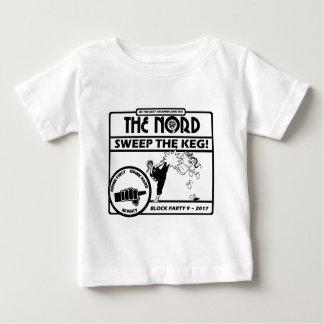 Habillement léger ou blanc de la partie de bloc 9 t-shirt pour bébé