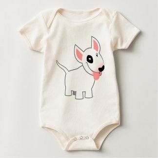 Habillement mignon de bébé de bull-terrier de body