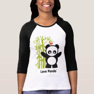 Habillement raglan de dames de Panda® d'amour T-shirt