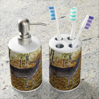 Habitant de forêt set de salle de bain