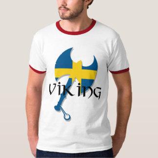 Hache de drapeau de Viking Suède de Suédois T-shirts