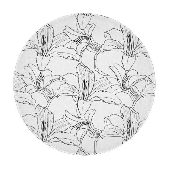 Hachoir floral d'ensembles tropicaux planche à trancher