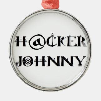 hacker johnny ornement rond argenté