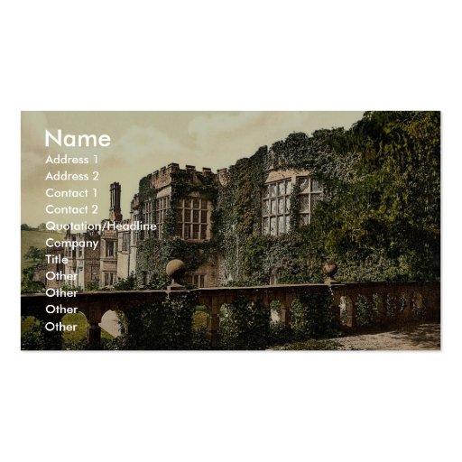Haddon Hall, de terrasse fait un pas, Derbyshire,  Cartes De Visite Professionnelles