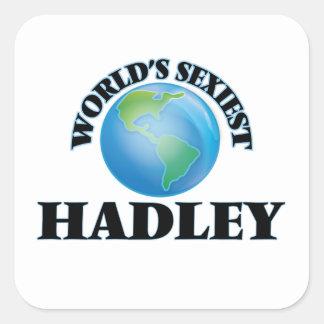 Hadley le plus sexy du monde autocollants carrés