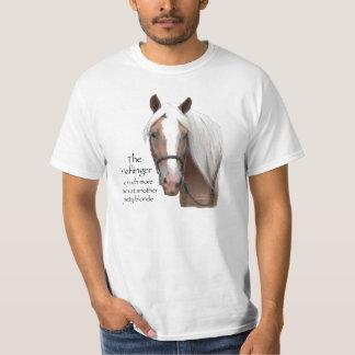 Haflinger font face t-shirts