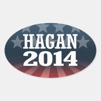 HAGAN 2014 AUTOCOLLANT OVALE