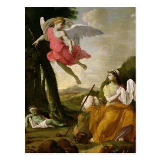 Hagar et Ishmael secourus par l'ange, c.1648 Carte Postale