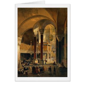 Haghia Sophia, plat 8 : la galerie et le b Carte De Vœux