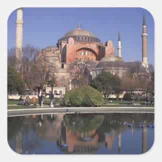 Hagia Sophia, Istanbul, Turquie Sticker Carré