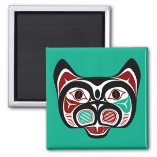 Haida du nord-ouest Kitty de Côte Pacifique Aimant