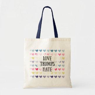 Haine d'atouts d'amour (fourre-tout) sac en toile