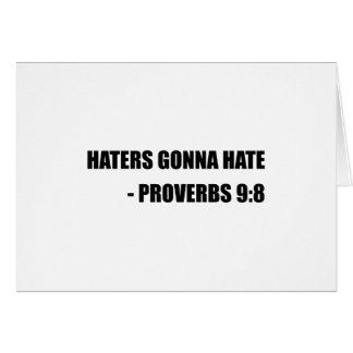 Haineux allant détester des proverbes carte de vœux