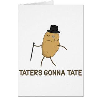 Haineux allant détester et Taters allant à Tate Carte De Vœux