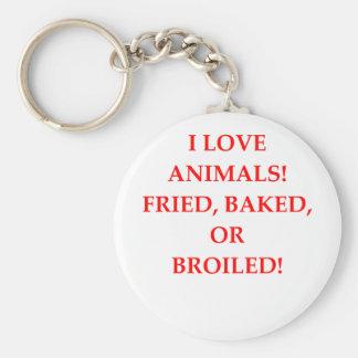 haineux animal porte-clé rond