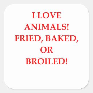 haineux animal sticker carré