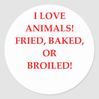 haineux animal sticker rond