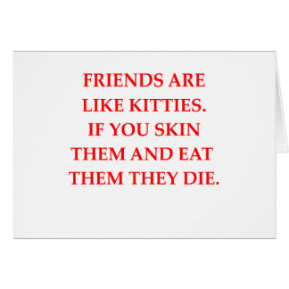 haineux de chat carte de vœux