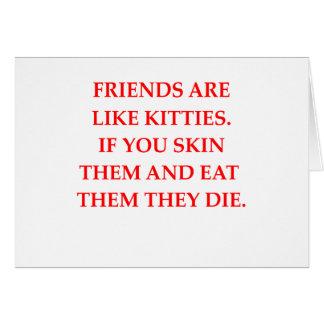 haineux de chat cartes