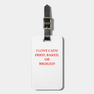 haineux de chat étiquette pour bagages
