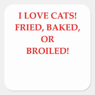 haineux de chat sticker carré