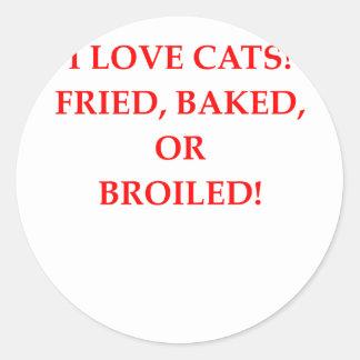 haineux de chat sticker rond