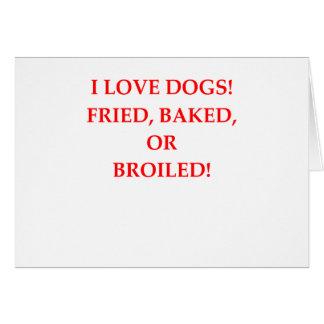 haineux de chien carte de vœux