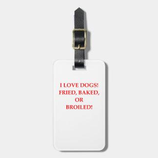 haineux de chien étiquette pour bagages