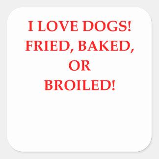 haineux de chien sticker carré