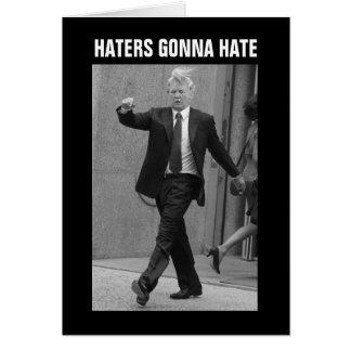 Haineux de Donald Trump allant détester Cartes