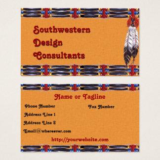 Hairpipe du sud-ouest et plumes cartes de visite
