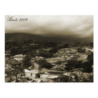 ~ Haïti de carte postale Mountians 2009 et ville