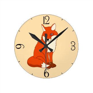 Hala le bon Fox Horloge Ronde