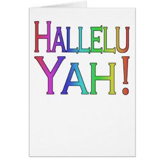 Hallelu Yah ! (arc-en-ciel) carte de Pâques