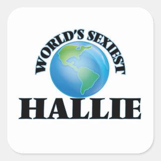 Hallie le plus sexy du monde autocollants carrés