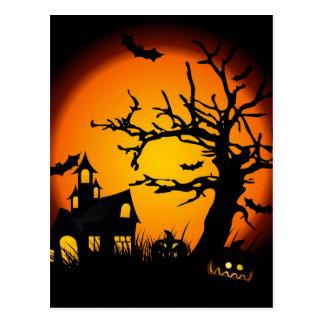 Halloween a hanté la maison carte postale