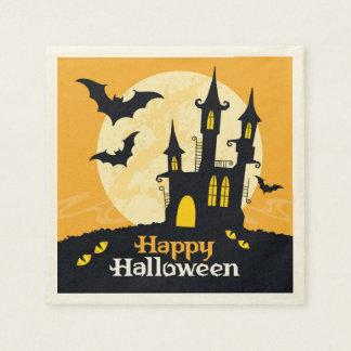 Halloween a hanté le château serviette jetable