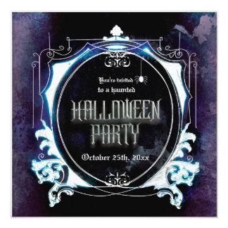 Halloween a hanté le cru éffrayant d'invitation de carton d'invitation  13,33 cm