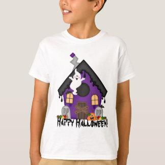 Halloween a hanté le T-shirt de vacances d'enfants